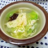 白菜ときくらげの中華玉子スープ☆