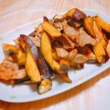 豚肉とサツマイモの大学芋風炒め