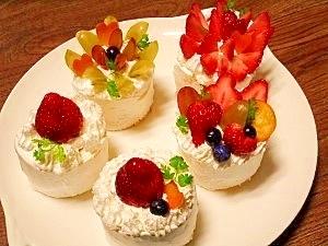 市販のロールケーキで☆デコケーキ