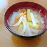 さつま芋☆大根☆玉ねぎ☆人参☆具だくさんのお味噌汁