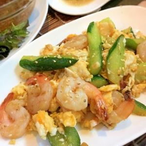 タイ風きゅうりの卵炒め