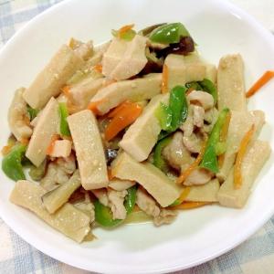 高野豆腐と豚肉の中華風炒め煮☆
