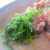 缶詰め鯖とおかひじきのグリル