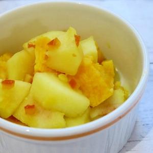 さつまいも&りんごのオレンジピール煮♪