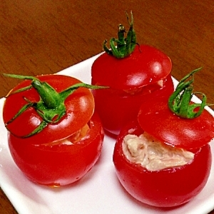 オードブル*プチトマトのクリームチーズ&ツナマヨ