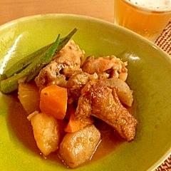 鶏手羽元の中華風煮物 圧力なべで短時間に。