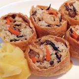 ❤ひじきご飯のお稲荷さん❤