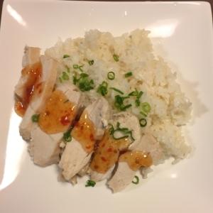 炊飯器で簡単♪シンガポールチキンライス(海南鶏飯)