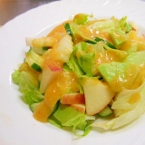 野菜と果物の柿ドレサラダ