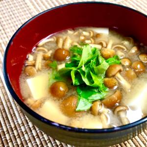 お味噌の定番❤️ナメコと豆腐のお味噌汁