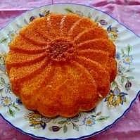 シロップかけ マーマレードのケーキ
