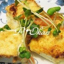 しっとり美味しい☆塩豆腐の明太子バター醤油炒め