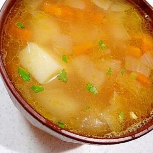 じゃがいも、にんじん、玉ねぎの洋風スープ