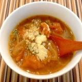 アメ色玉ねぎと完熟トマトのオニオンスープ