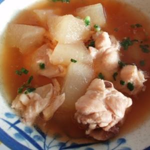 炊飯器で簡単!鶏肉と冬瓜のスープ