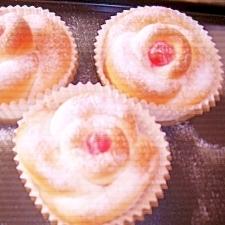お花の形のパン