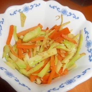 ブロッコリーの茎のガーリックソテー
