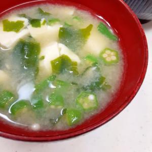 簡単ヘルシー味噌汁(^^)ストック食材+豆腐♪