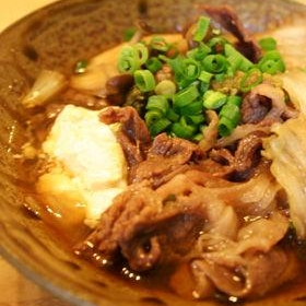 豆腐と牛肉のすき焼き風煮込み