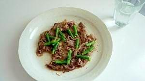 モ~出来た!牛肉とインゲン炒め風:約240Kcal