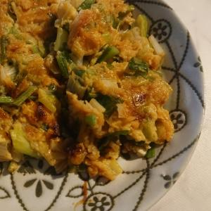 ピリ辛ネギニラ卵焼き