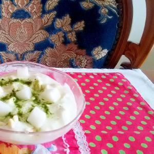 杏仁豆腐とヨーグルト
