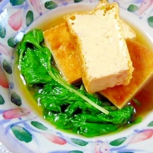 厚揚げと水菜のサッと煮