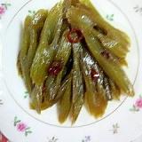 蕗の炒め物