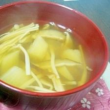 長芋ときのこのすまし汁