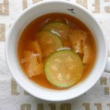 ズッキーニ・油揚げの味噌汁