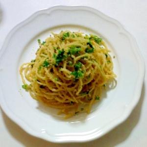 タラコとセロリのスパゲッティ