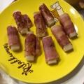 ベーコン巻き餅のバター醤油焼き☆