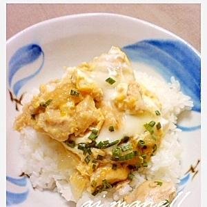 鶏ささみで作る親子丼