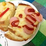魚肉ソーセージのチーズトースト☆
