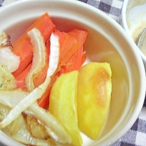 野菜のシンプルオーブン焼きピリ辛ソース