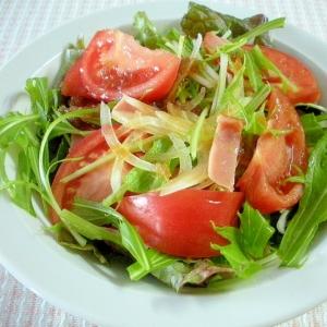 ☆水菜とトマトのヘルシーサラダ☆