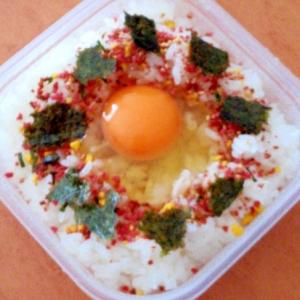 簡単☆アレンジ☆味付け海苔とふりかけの卵かけご飯