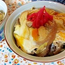 お麩の卵とじ丼