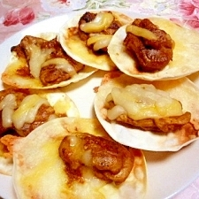 簡単❤餃子の皮deピザ❤
