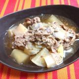 牛バラ肉と大根・長ネギの煮込み