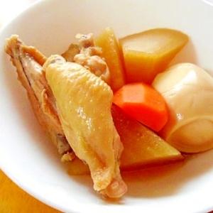 手羽中・黄身トロ卵・大根・にんじんの煮物