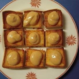 生姜ジャムきな粉ヨーグルトのせ・ひとくちトースト