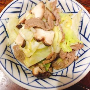 牛カルビで野菜炒め