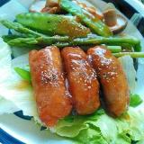 胡椒でピリリと肉巻き野菜サラダ