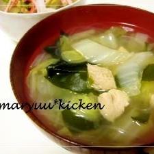 白菜の体ぽかぽか✿生姜スープ