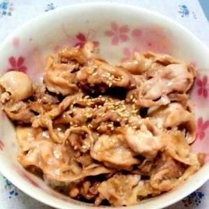フライパン1つ☆5分で出来ちゃう激ウマ豚丼