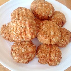 生姜味オーツ麦とココナッツのクッキー