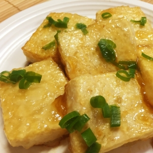 豆腐のめんつゆ焼き