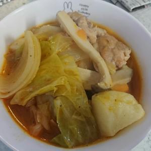 ミネストローネ鍋の素でチキンと野菜の煮込み