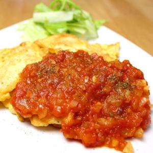 簡単♪鶏ささみのピカタ★トマトソース添え